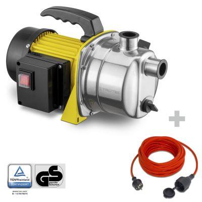 Pompe de jardin TGP 1000 ES + Rallonge haute qualité 15 m 230 V 1,5 mm²