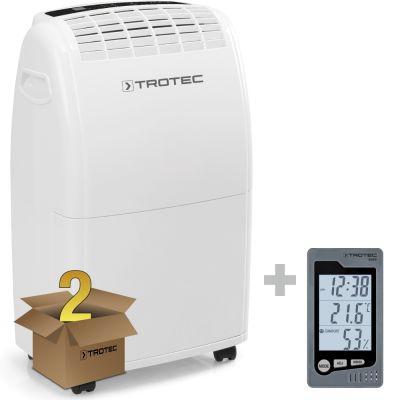 Déshumidificateur TTK 75 E en lot de 2 avec thermo-hygromètre BZ05