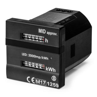 Compteur de kWh et d'heures de service conforme MID