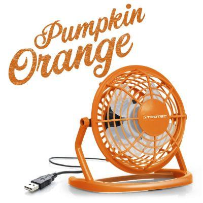 Ventilateur de table USB orange TVE 1O