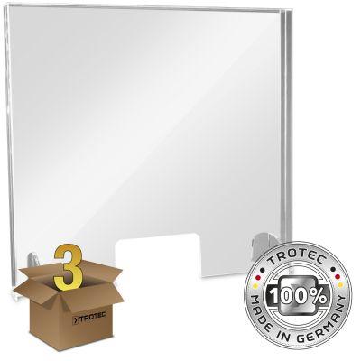 Plaque de protection acrylique pour comptoir MEDIUM 795 x 250 X 750 en lot de 3