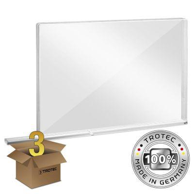 Plaque de protection acrylique à usage scolaire MEDIUM 1007 x 69 x 688 en lot de 3