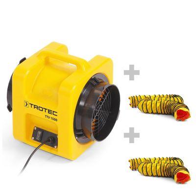 Ventilateur de transport TTV 1500 + 2 Gaines SP-T 203 mm