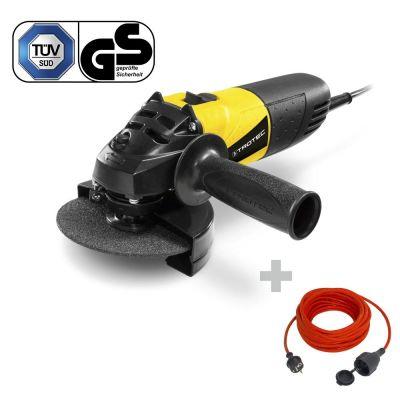 Meuleuse d'angle PAGS 10-115 + Rallonge haute qualité 15 m 230 V 1,5 mm²