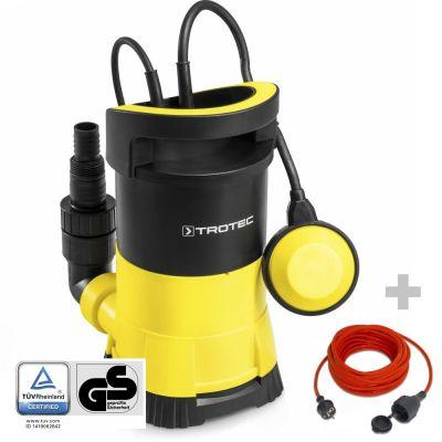 Pompe de relevage pour eau claire TWP 4005 E + Rallonge 15 m 230 V 1,5 mm²