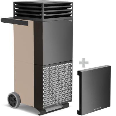 Purificateur d'air intérieur TAC M bronze/noir + Capot insonorisant