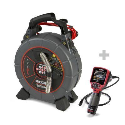 Caméra de canalisation SeeSnake microReel + Caméra d'inspection numérique micro CA-350x