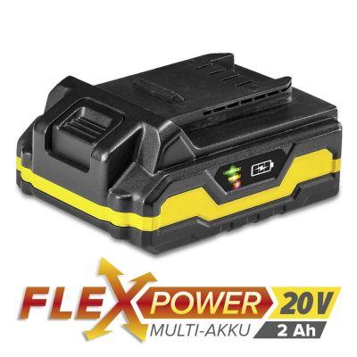 Batterie Flexpower 20 V 2,0 Ah pour PSCS 10-20V/ PHDS 10-20V/ PJSS 10-20V