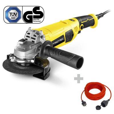 Meuleuse d'angle PAGS 11-125 + Rallonge haute qualité 15 m 230 V 1,5 mm²