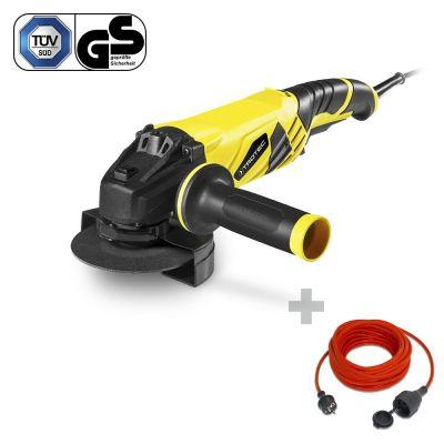 Meuleuse d'angle PAGS 10-125 + Rallonge haute qualité 15 m 230 V 1,5 mm²