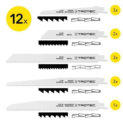 Set de lames bois/métal pour scie sabre (12 pces)